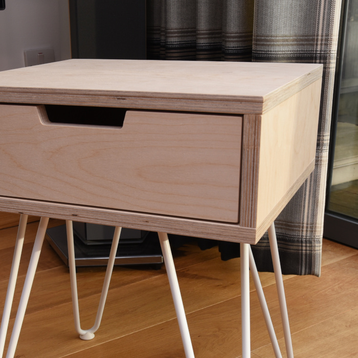 Birch plywood single drawer unit